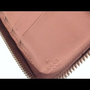 Gucci Bags - Gucci pink embossed monogram leather long wallet